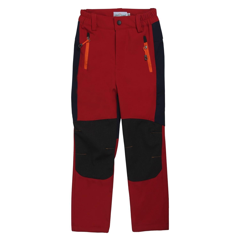 Sidiou Group Deporte al Aire Libre Pantalones de Trekking Ni/ño Pantalones de Monta/ña Softshell Pantalones Impermeable Pantalones Senderismo Ni/ña Pantalones de Escalada Chicas Pantalones Forro Polar