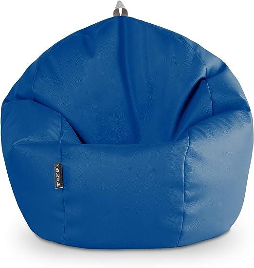HAPPERS Puff Pelota Polipiel Indoor Azul: Amazon.es: Hogar