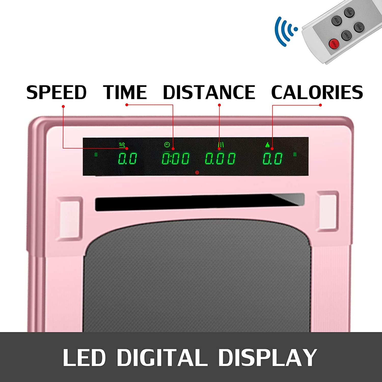 Cinta de Correr El/éctrica Plegable Mini Cinta de Andar Profesional Pantalla Digital LED Gimnasio con Reposabrazos Husuper Cinta de Correr Inteligente