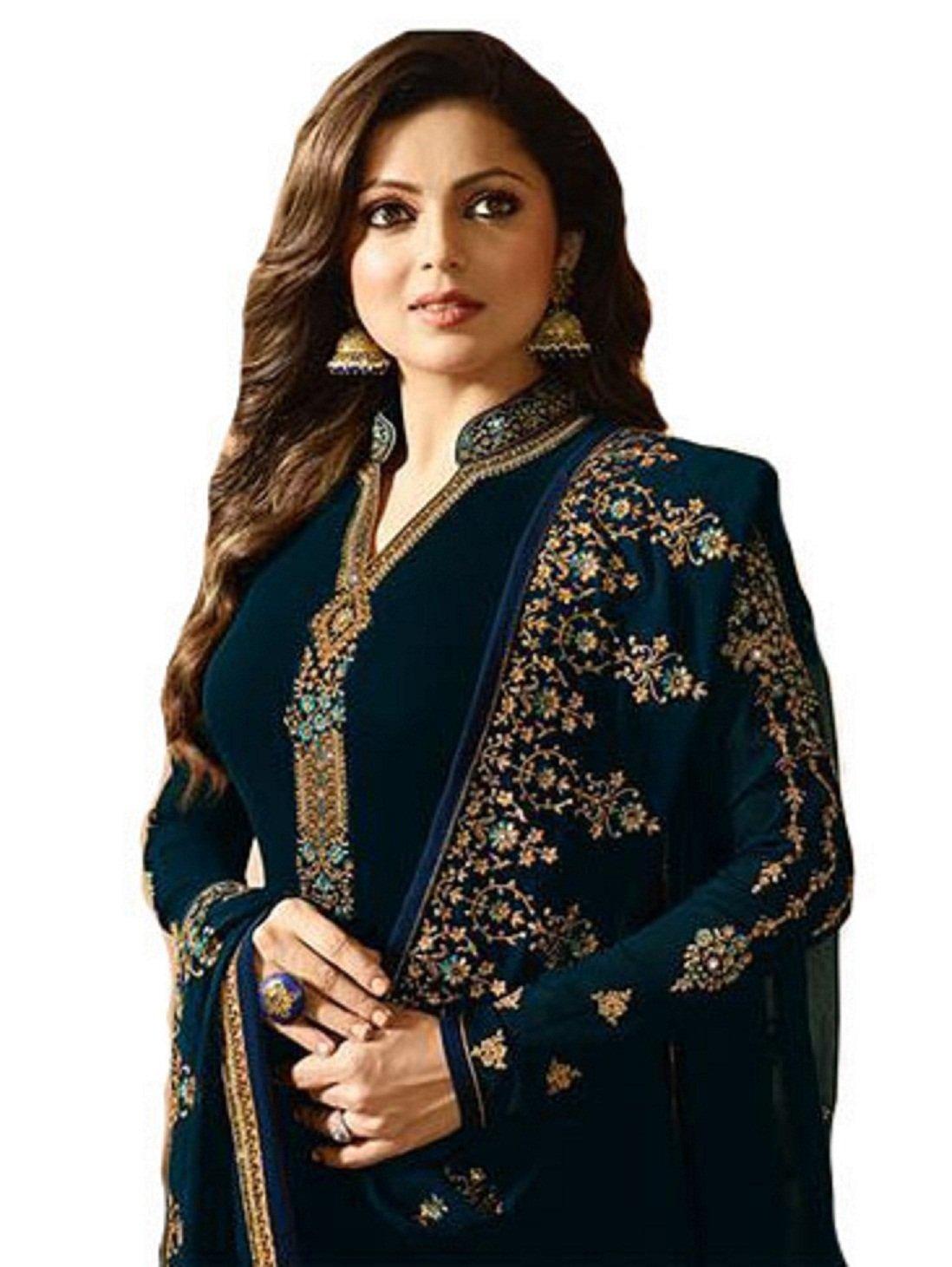 ziya Ready Made Fashionable Designer Straight Salwar Kameez LT Nitya 2201-2208 (Blue, XL-44)
