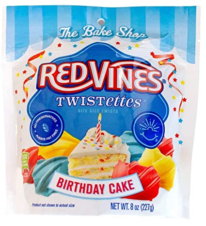 Amazon Red Vines Birthday Cake Bites Chewy Licorice Candy 8oz Bag 12 Pack Grocery Gourmet Food