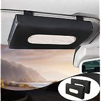 MEETYB Car Tissue-Holder Visor Napkin-Case - PU Leather Vehicle Backseat Door Tissue Holder Car Hanging Towel Paper…