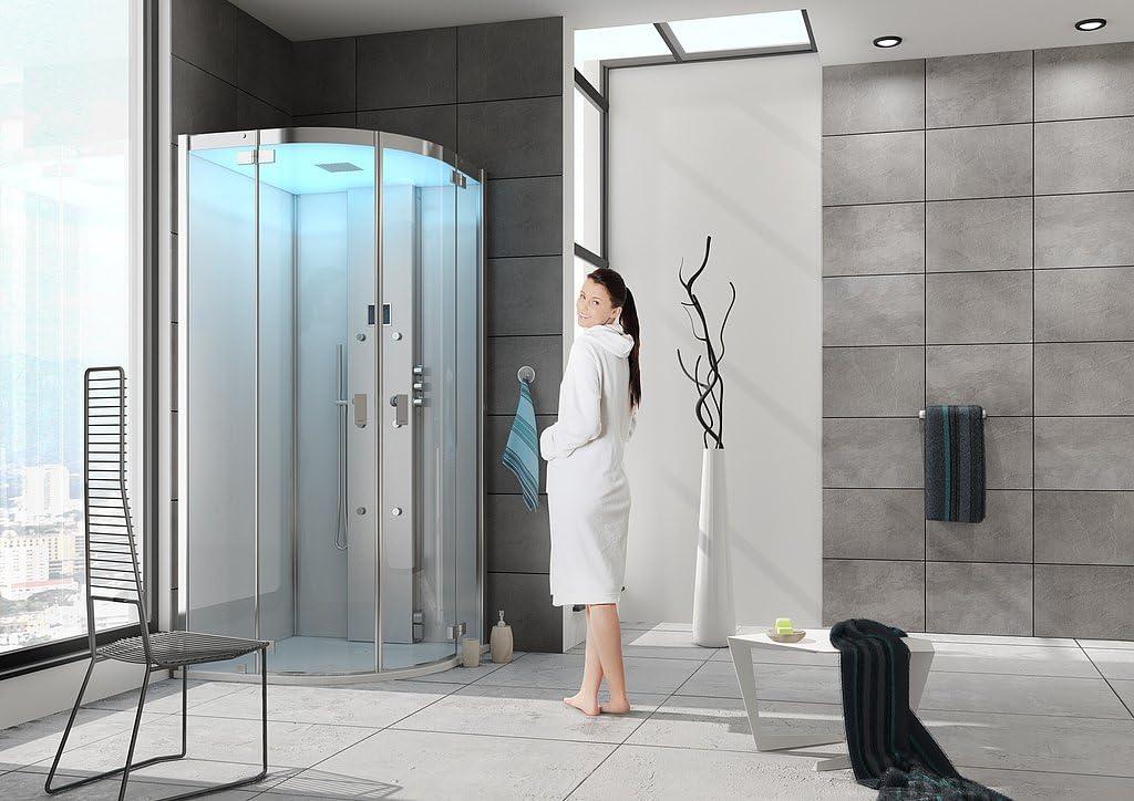Baño Hoesch Vapor senseperience 100 x 100 cmmit Cuadrante ducha ...