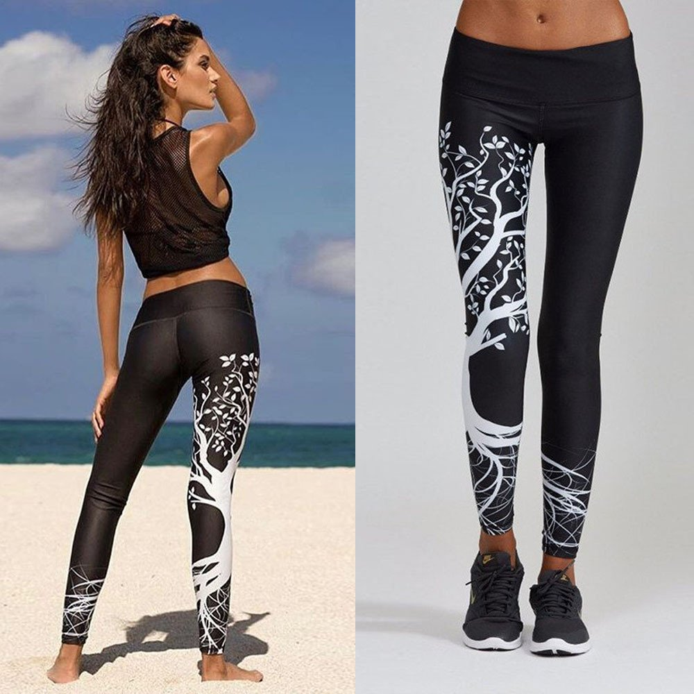 Women Printed Sports Yoga Pants, Workout Gym Fitness Exercise Athletic Pants, Sunsee Gril 2019 by SUNSEE WOMEN'S CLOTHES PROMOTION (Image #9)