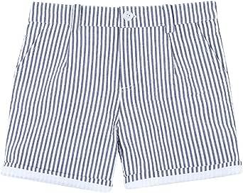 Gocco Seersucker Rayas Marino Pantalones para Niños