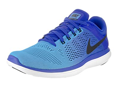 efd05a7e499 Nike Men s s Flex 2016 RN Running Shoes Azul (Racer Black-Blue Glow-White