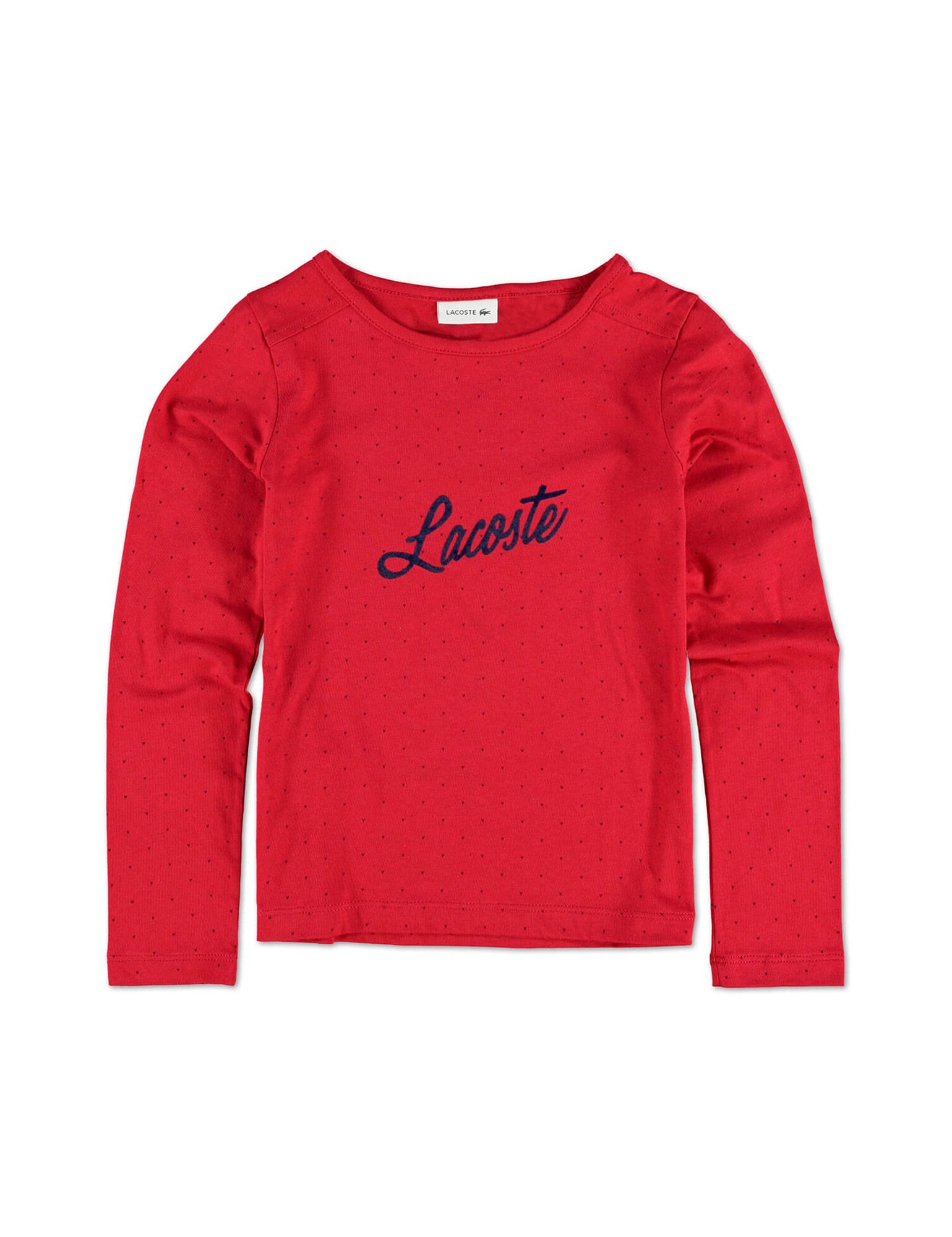 Lacoste Girl's Red Long Sleeve T-Shirt in Size 8 Years (128 cm) Red