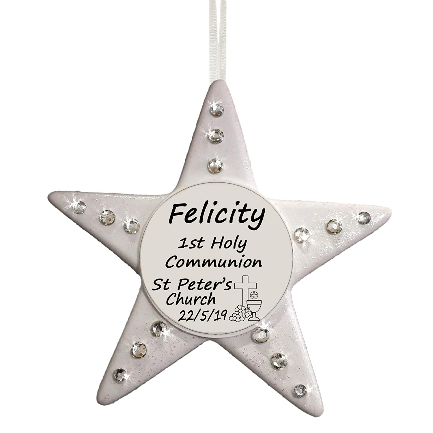 1st Holy Communion Personalised Star Religious Gift by Truly for You