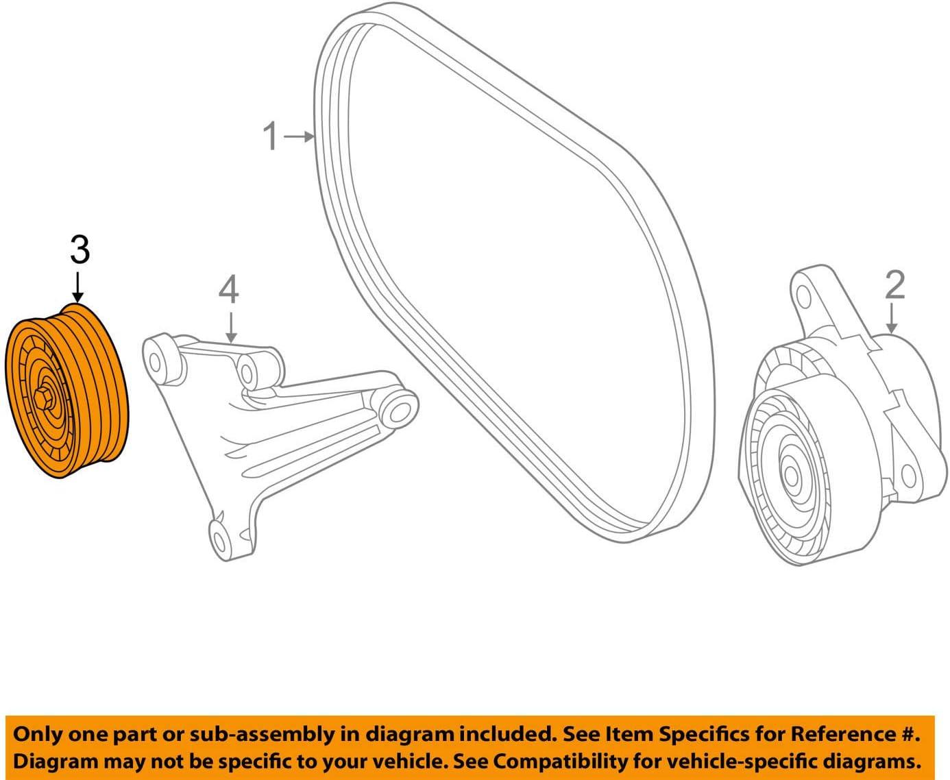 Drive Belt Idler Pulley Mercedes-Benz 276 202 01 19