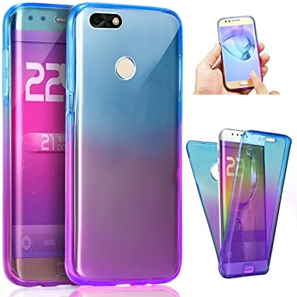 PHEZEN Huawei P9 Lite Mini Case, Shockproof 360 Front and Back Full Body Protection Flexible TPU Bumper Case Anti-Scratch Protective Case for Huawei ...