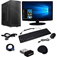 WOLUX WPC-1561 Assembled Desktop Computer (Intel CORE 2 Duo 3 GHZ, 4GB RAM, 160GB Hard Drive, 15.6 INCH LED, WiFi, Integrated Graphics), (Black)