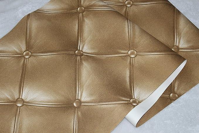 Amazon.com: Papel pintado texturizado de piel., Dorado: Home ...
