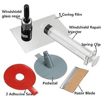 Kit de reparación para roturas y desconchones de parabrisas: Amazon.es: Coche y moto