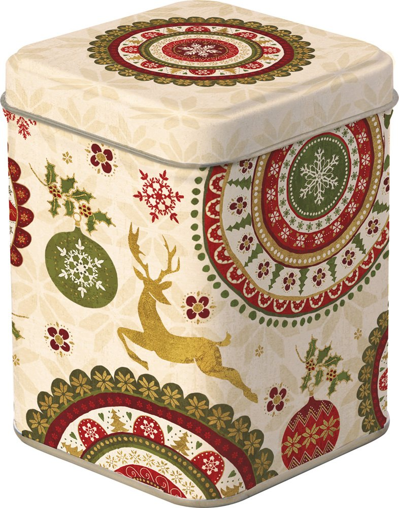 Celebrate the Home DOD745160 Holiday Tea Storage, Christmas Ornaments-Cream