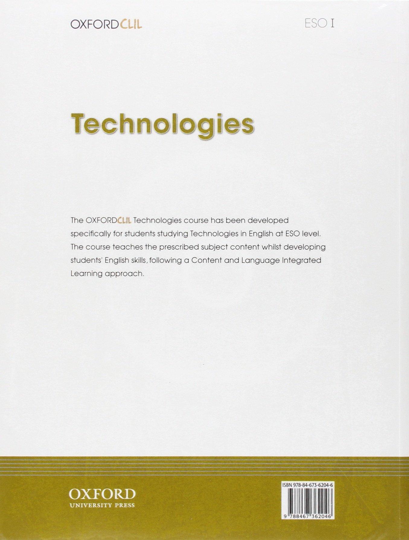 Bilingüe Tecnología I ESO la 11 - 9788467362046 Oxford CLIL: Amazon.es:  Jesús Moreno Márquez, M.ª Victoria Salazar Nicolás, Araceli Isabel Sánchez  Sánchez, ...