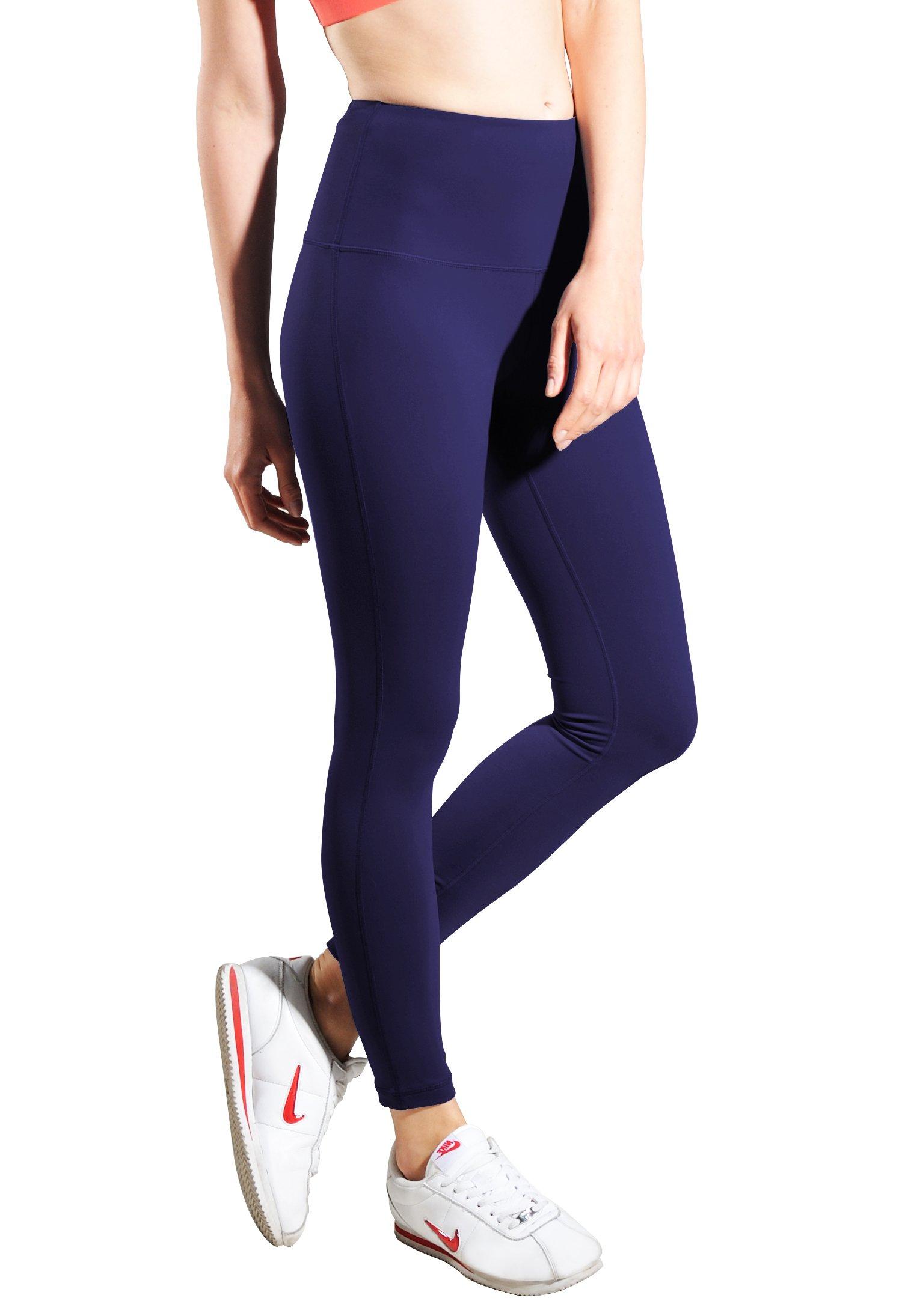 Queenie Ke Women Mid-Waist Phone Back Pockets Sport Legging Yoga Pants Running Tights Size XS Color Dark Indigo