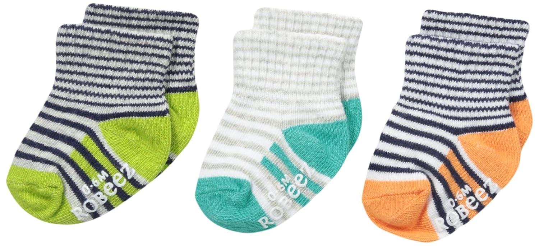 Robeez Baby Boys Follow Me Stripes 3 Pack Socks