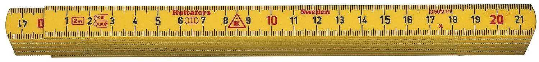 Hultafors G59-2-10 GU - Metro plegable de fibra de vidrio amarillo de 2 m x 15 mm 200004