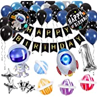 Innoo Tech Space Party Supplies - Outer Space Party Decorations Solar System Happy Birthday Banner Rocket Balloons…