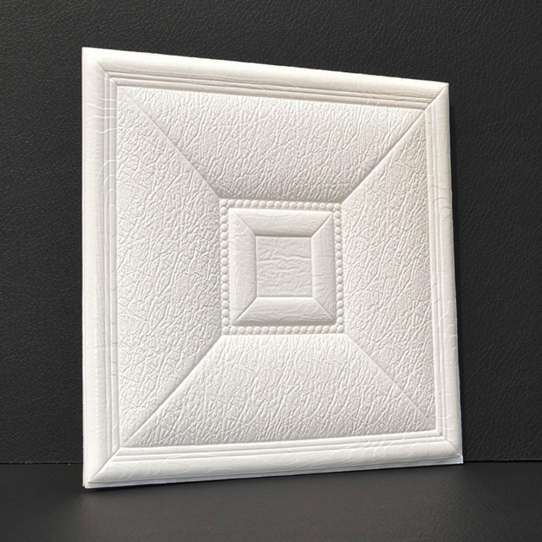 "Transer 3D DIY PE Foam Self-adhesive Waterproof Wallpaper Decor Brick Stone Tile Wall Stickers, 11.8""x11.8"" (1, F)"