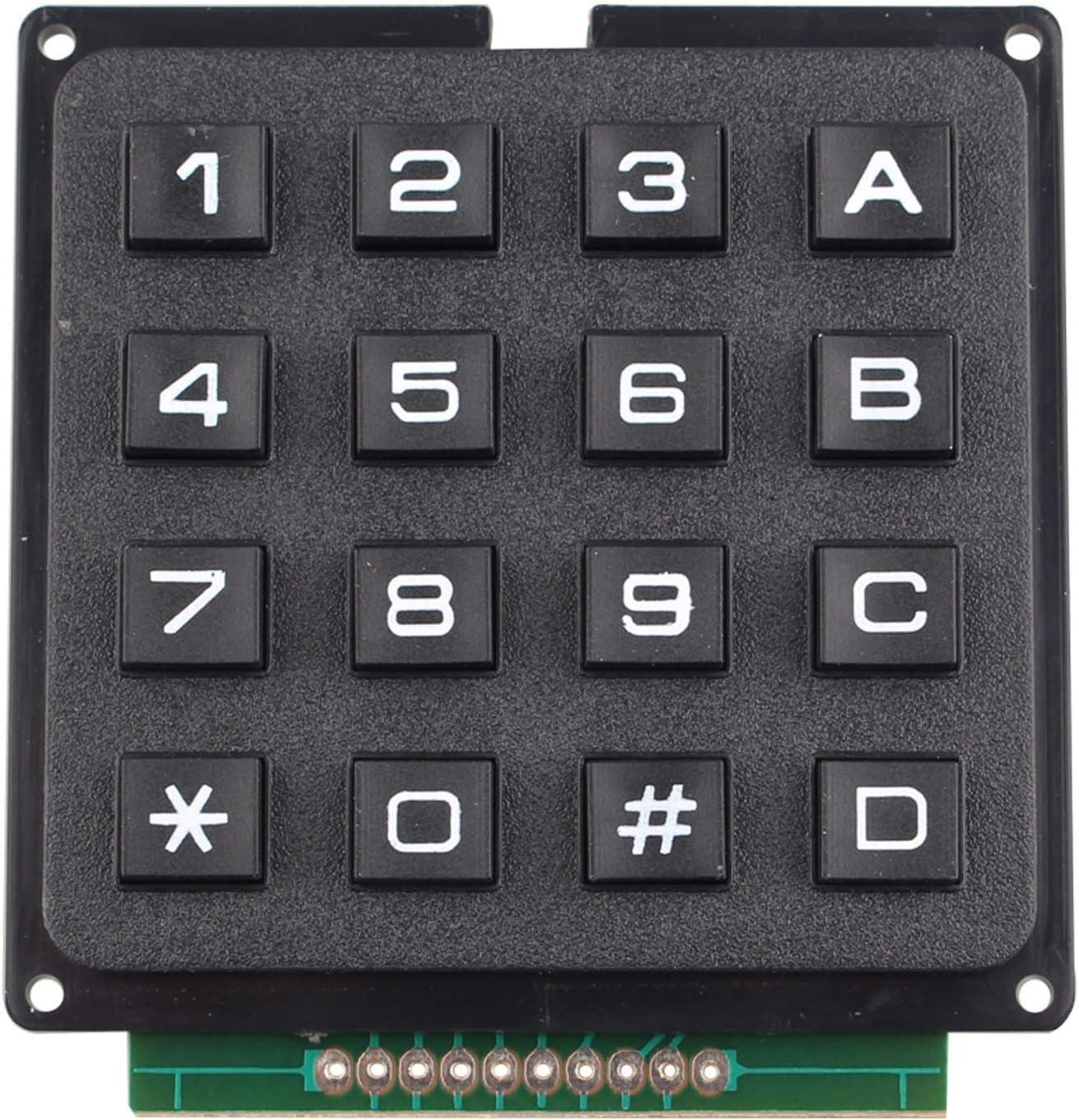 HALJIA Módulo de teclado de 16 teclas MCU de 16 teclas, compatible con Arduino incluyendo ebook