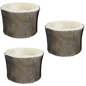 HQRP Filter 3-Pack for Sunbeam SWF75-CN1 SWF75 SF221 HWF75P SCM3609 SCM3609P Humidifier Coaster