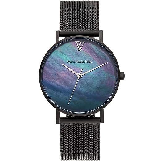 Paul Valentine PV381331 - Reloj de Pulsera para Mujer, Color Negro: Amazon.es: Relojes