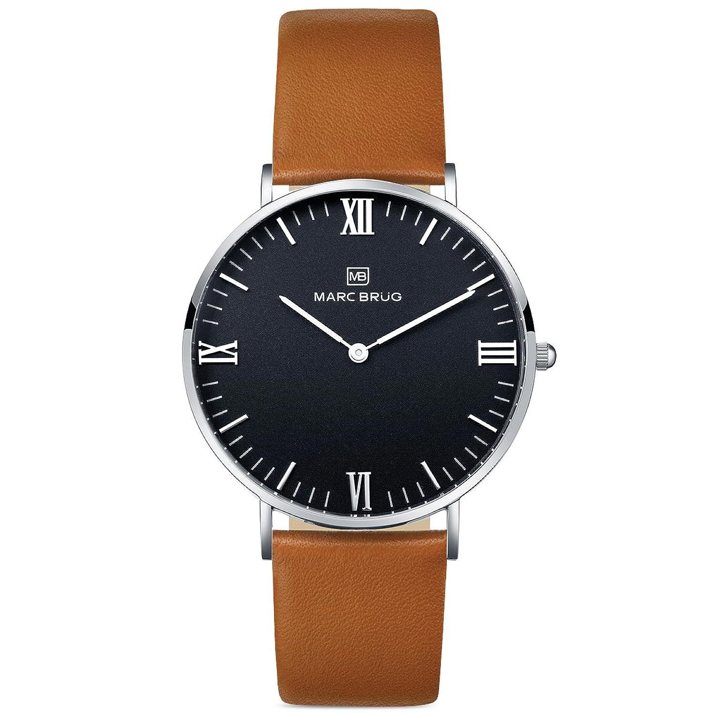 Marc brÜg Herren Armbanduhr Minimalist Paddington 41 schwarz Hygge