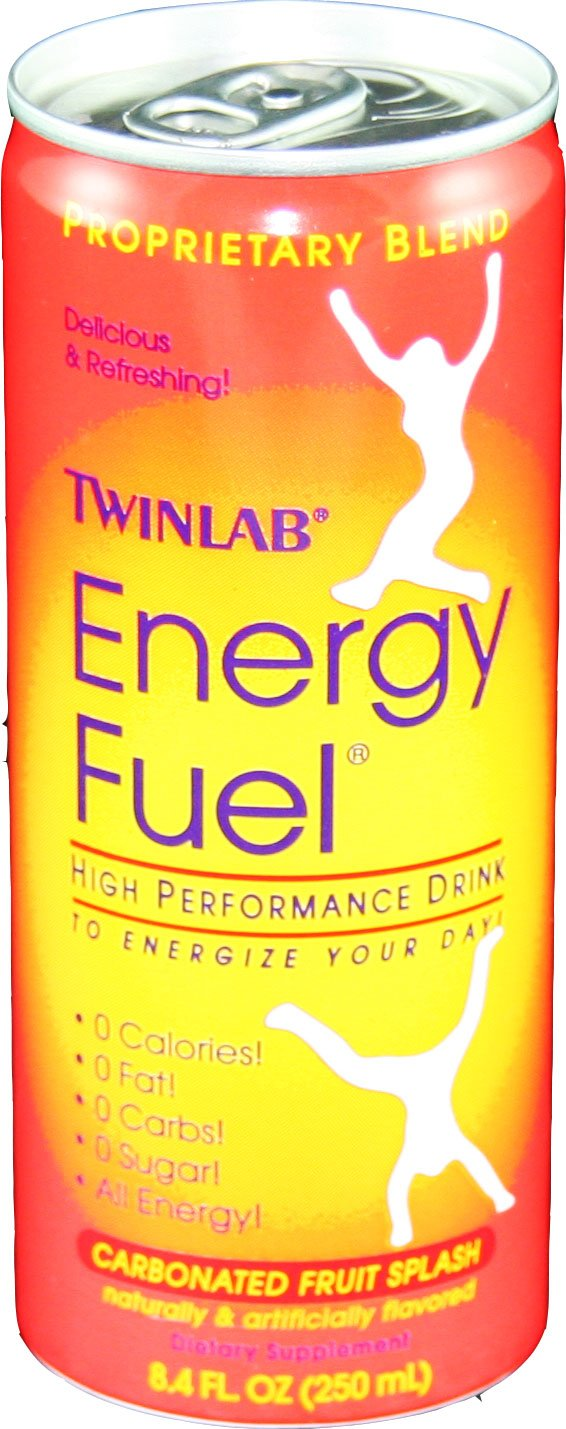 Twinlab Energy Fuel High Perfomance, Carbonated Fruit Splash, 8.4-Ounces (Pack of 24)