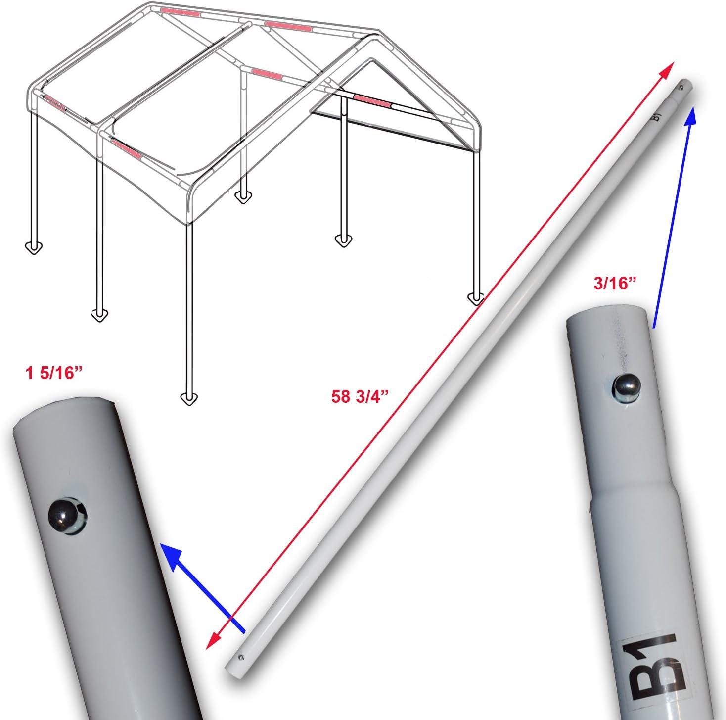 Yard Color Cross Brace Pole 58 3 4 For 10x20 Caravan Canopy Domain Carport Garage Parts B1 Awnings Canopies