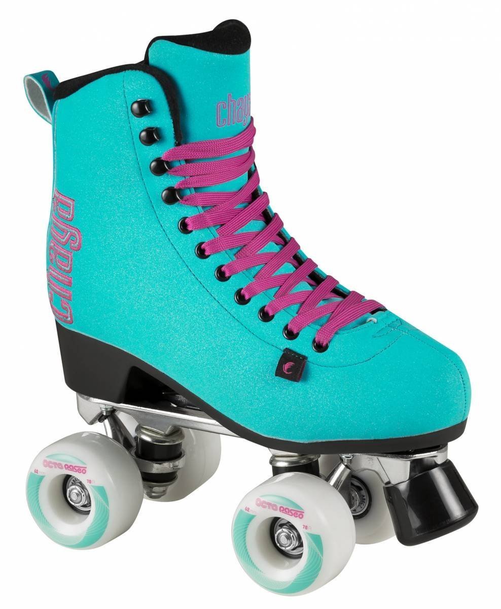 Chaya Melrose Deluxe Turquoise Quad Indoor/Outdoor Roller Skates (Euro 38 / US 7)