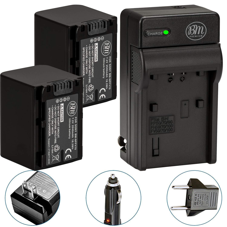 Amazon.com: Juego de 2 baterías NP-FV70 y cargador de ...