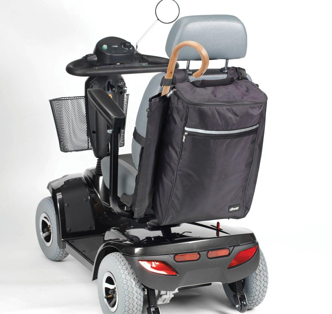 Drive Medical - Bolsa para bastón y muleta para patinete (negro)