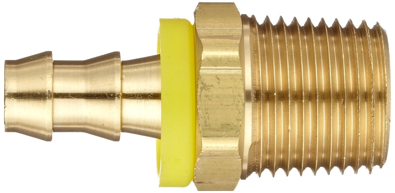 Adapter 1 NPTF Male x 1 Hose ID Push On Dixon BPN88 Brass Push-On Hose Fitting
