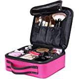 Portable Travel Makeup Bag, Cosmetic Organizer Make Up Artist Storage for Cosmetics, Makeup Brushes, Jewelry, Toiletry and Travel Accessories