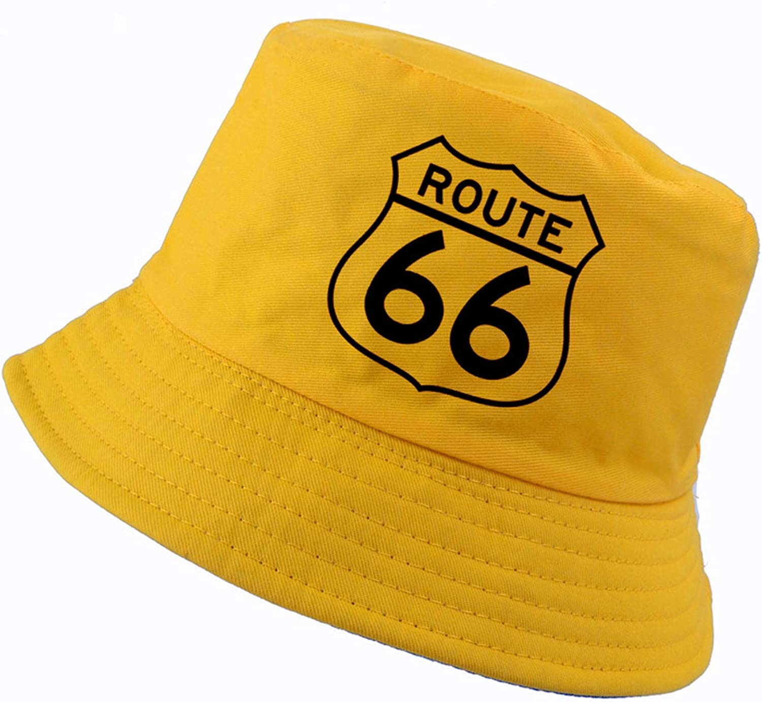 Fashion Route 66 Bucket hat Men and Women Summer k pop Fisherman hat Outdoor Sports dad Cap Panama Fishing Cap