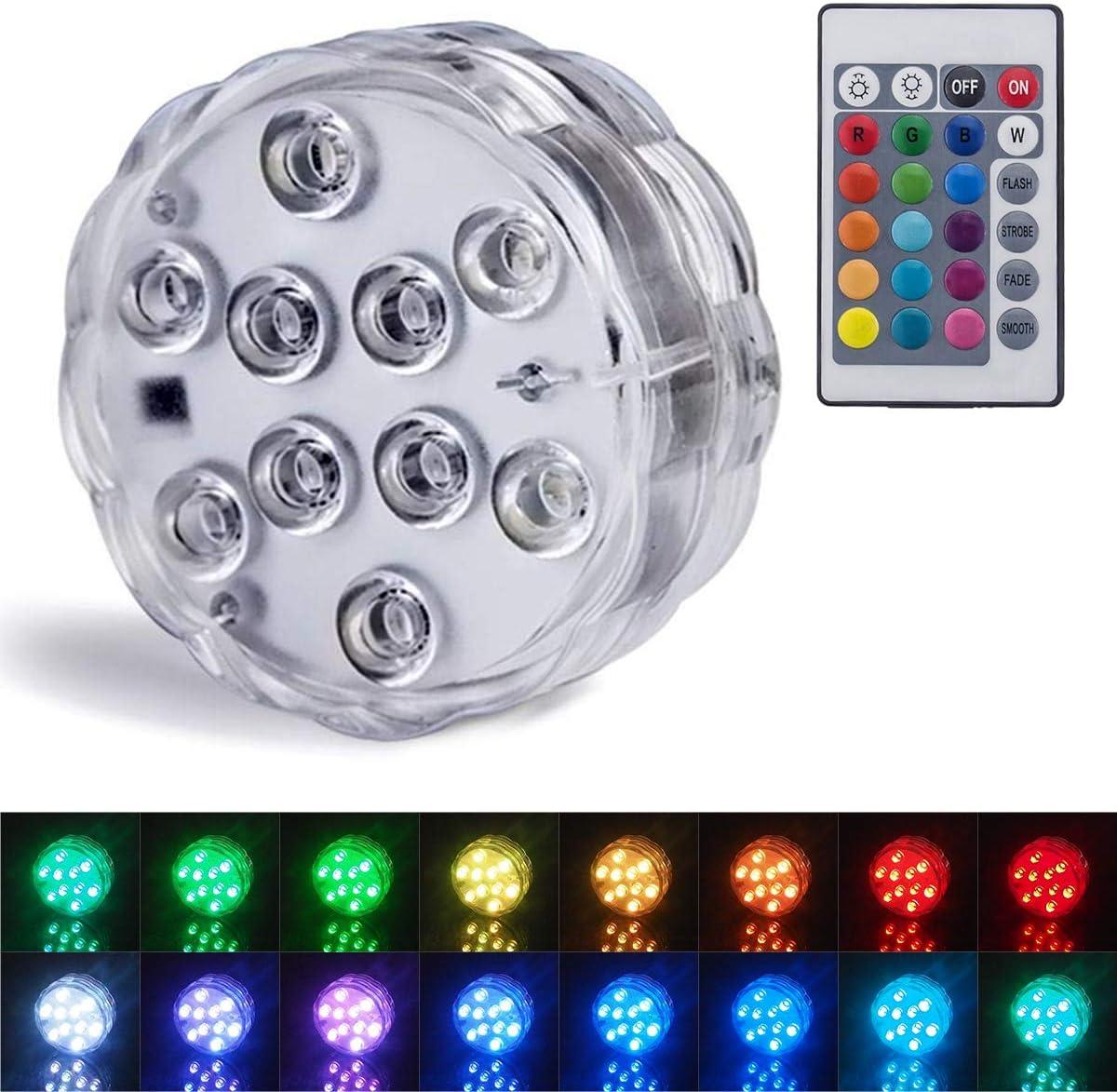 Luces sumergibles Luces LED sumergibles con luces subacuáticas a prueba de agua