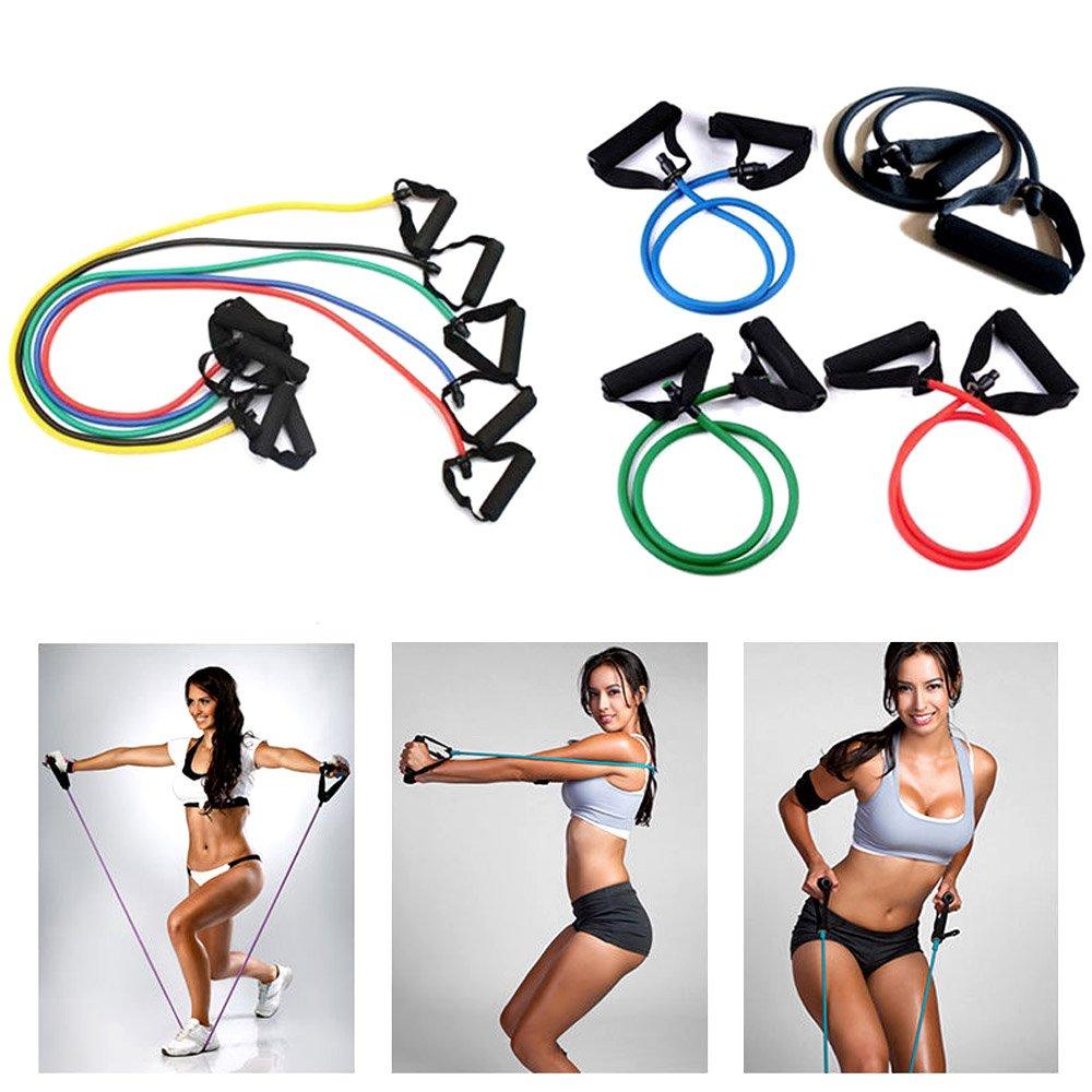 Kasstino 1x Yoga Resistance Band Elastic String Slim Fitness Exercise Latex Tube Workout KS0521