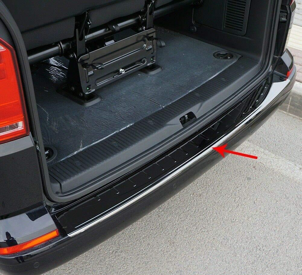 Transporter//Caravell//Multi Edelstahl Chrom Sto/ßstangenschutz Kratzschutz schwarz T6