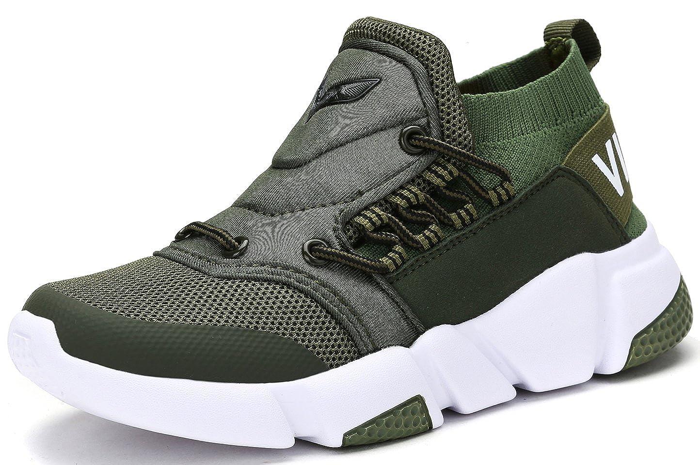 VITIKE Ragazzi Ragazze Sneaker Outdoor Athletic Slip su Scarpe da Corsa Casuali Verde