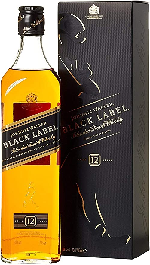 Johnnie Walker Black Label 12 Years Old Blended Scotch Whisky 70cl