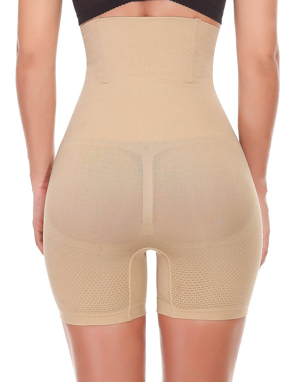 LANFEI Womens High Waist Shapewear Short Tummy Firm Control Butt Lifter Panties