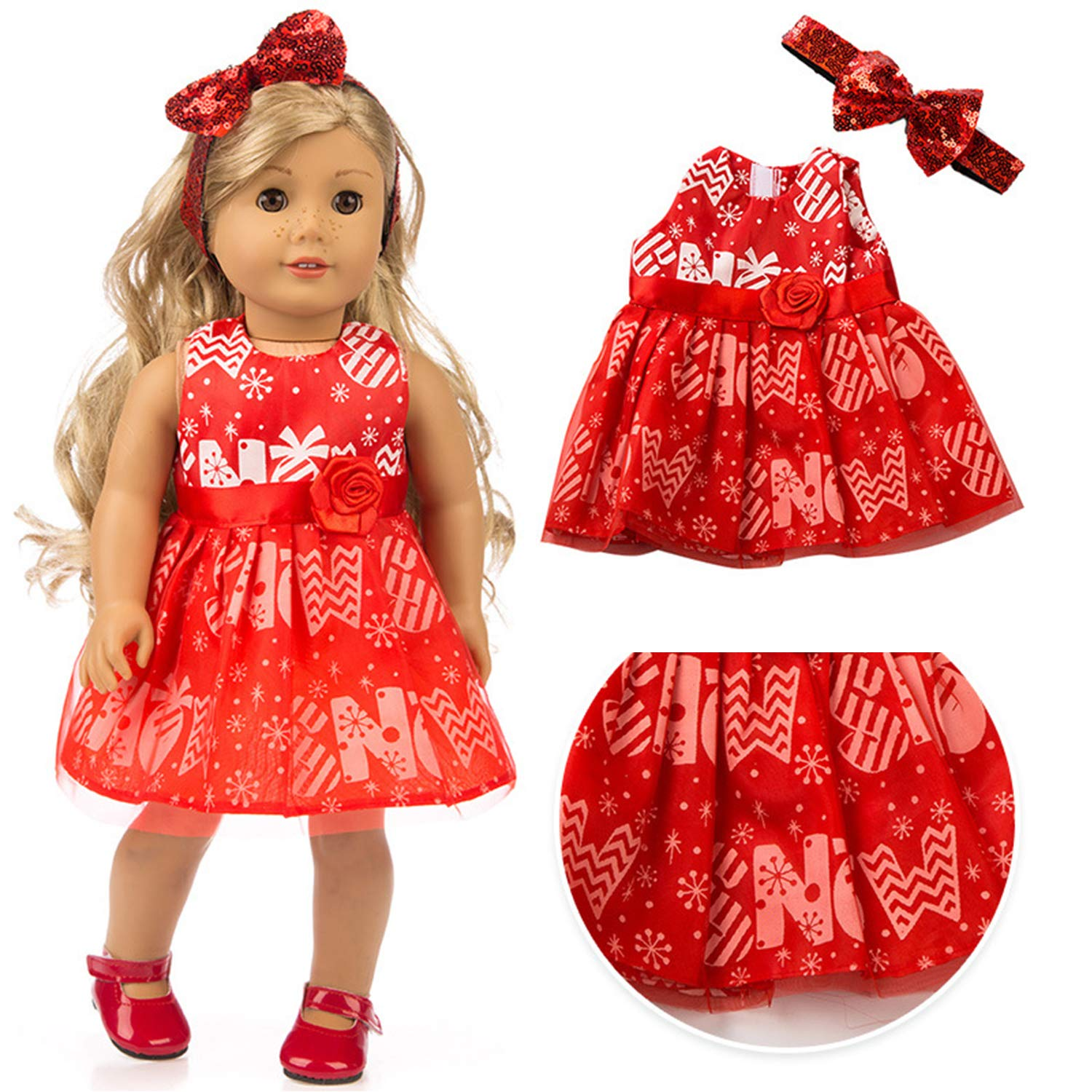 UEECHY 18 Inch Doll Clothes and Accessories American Doll Dresses
