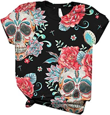 POINWER - Camiseta de manga corta para mujer, diseño de ...