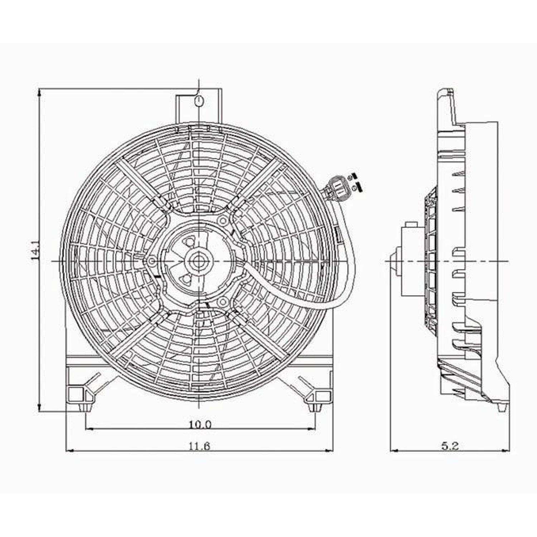 Crash partes Plus ventilador frontal de condensador para Nissan Armada, Titan ni3113109: Amazon.es: Coche y moto