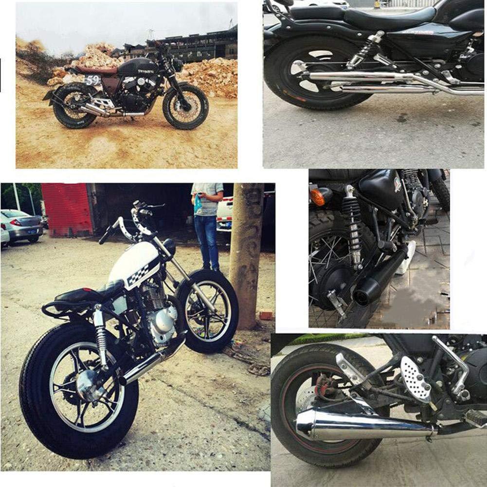Tubo de Enlace de Montaje bajo de Acero Inoxidable Sistema de Enlace de silenciador de Motocicleta Tubo de Escape de Motocicleta para Honda CG EN125 XL883 1200