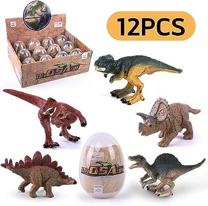 Amazon.com: Remokids - Juego de 12 huevos de dinosaurio con ...