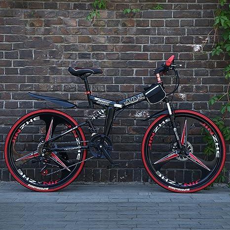 YEARLY Montaña Bicicleta Plegable, Adultos Bicicleta Plegable 21 velocidades Regalo de Estudiante Bicicleta Plegable-Negro 26inch: Amazon.es: Deportes y aire libre