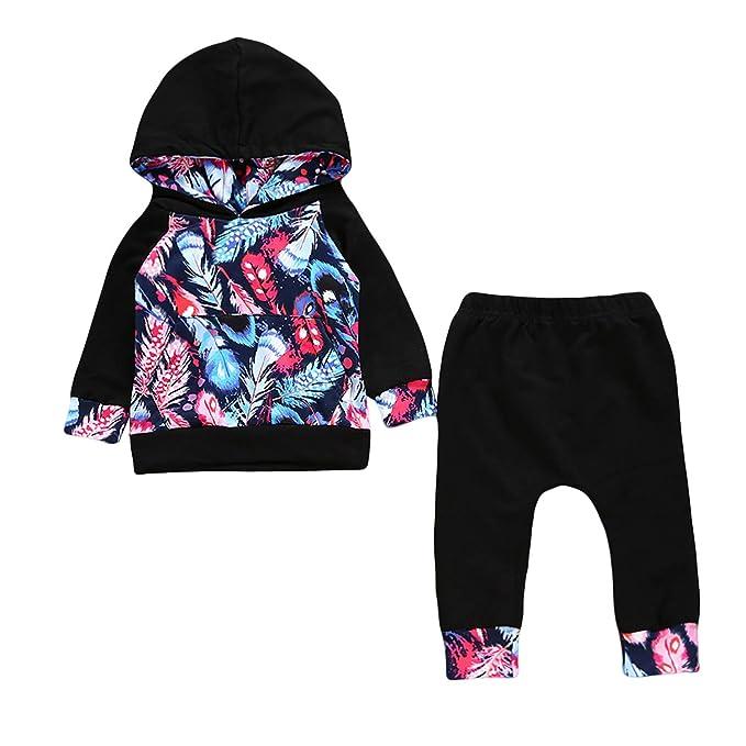 6ee4adf73f11 Amazon.com  Newborn Toddler Baby Boy Girl Clothes Set Long Sleeve ...