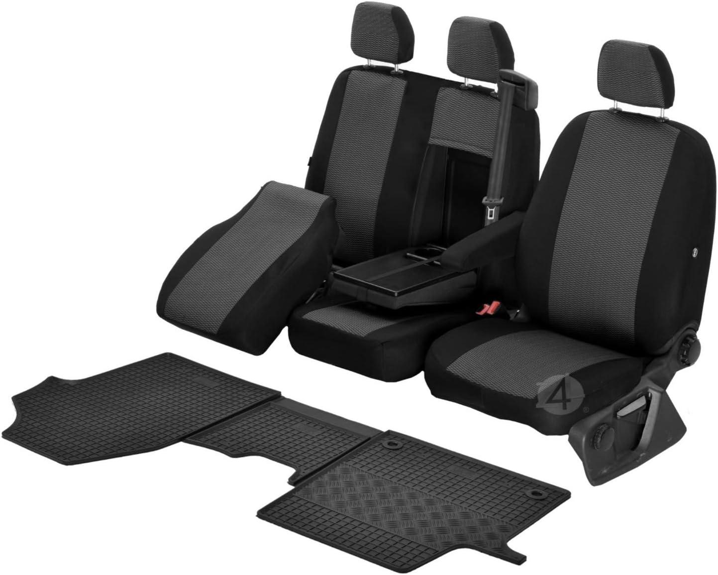 Passgenaue Sitzbezüge Hero Und Gummifußmatten Kompatibel Mit Opel Vivaro C Ab 2019 Ein Set Auto
